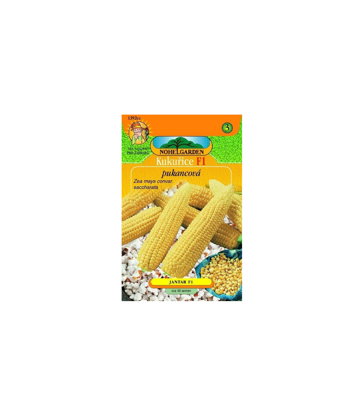 Kukurica pukancová F1 - Zea mays - semená kukurice - semiačka - 50 ks