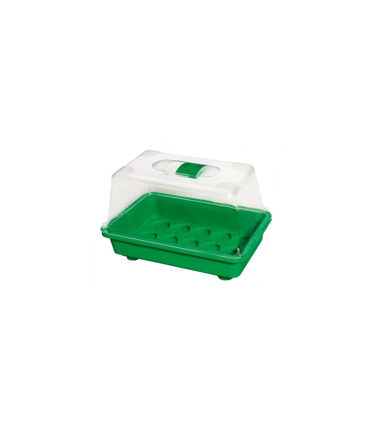 Miniskleník s ventiláciou - 29 x 19 x 19 cm - Nino - pevný miniskleník - 1 ks