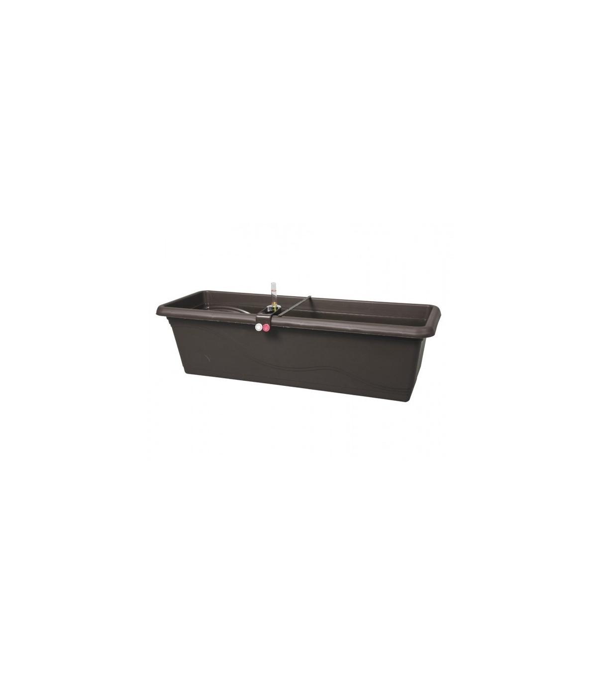 Samozavlažovací truhlík - Extra Lina Smart - hnedý - 60 cm