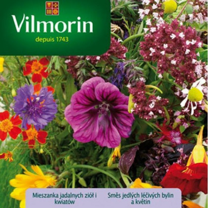 Vilmorin - Zmes jedlých liečivých bylín a kvetín - semená- 3 g