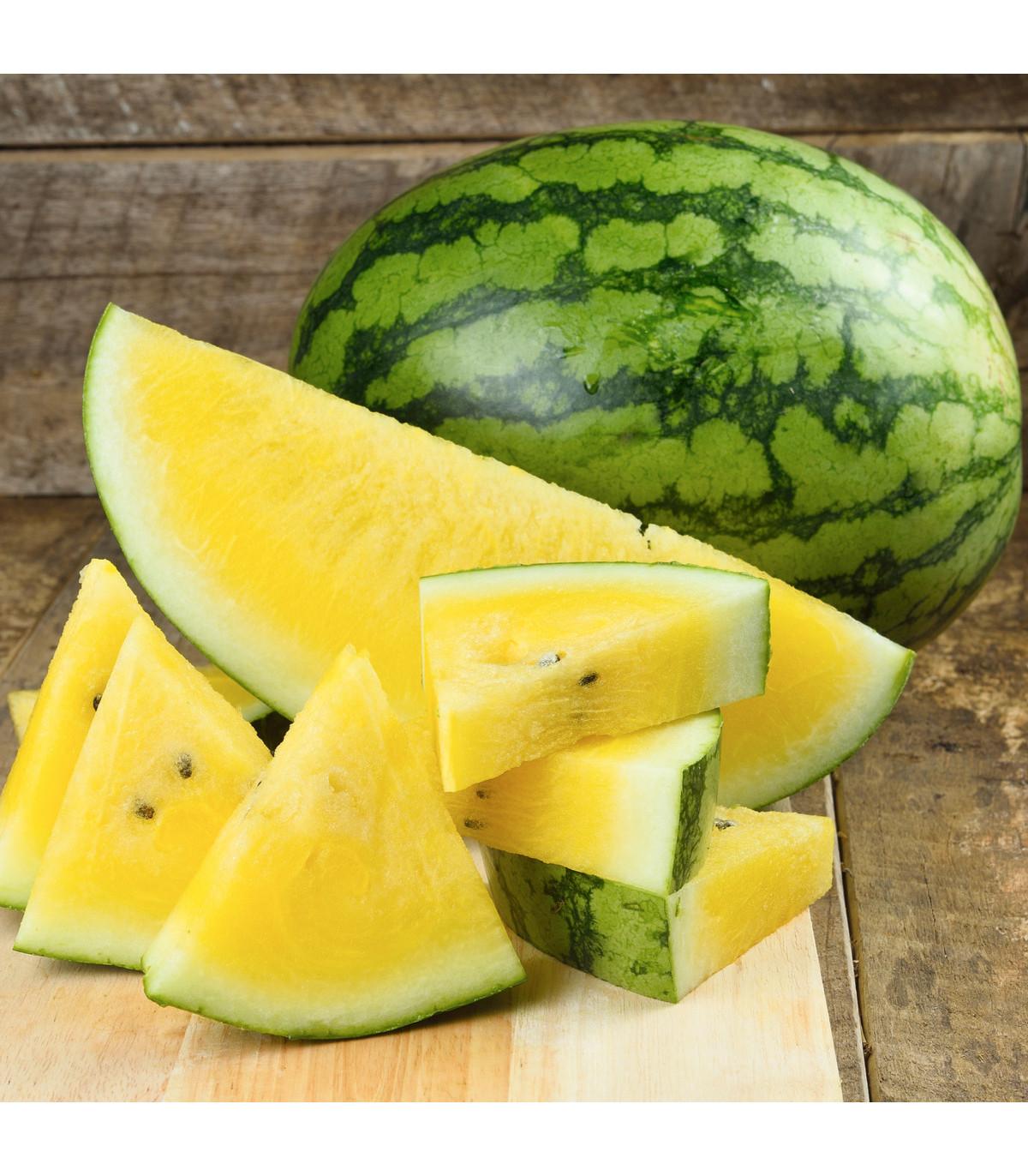 Melón Jánošík - vodný žltý melón - Citrullus lanatus - semená melónu - 6 ks