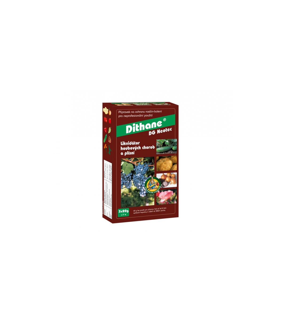 Dithane - Likvidátor hubových chorôb a plesní - ochrana rastlín - 3 x 20 g