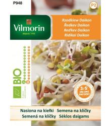 Bio semená na klíčky - Reďkev Daikon - Vilmorin - 10 g