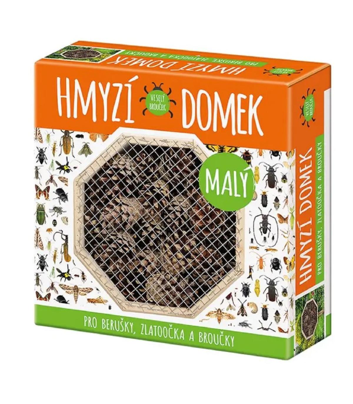 Domček pre hmyz malý - domček pre lienky, zlato-očká a chrobáčikov - 1 ks
