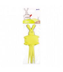 Menovky zelené v tvare zajaca - 5 ks