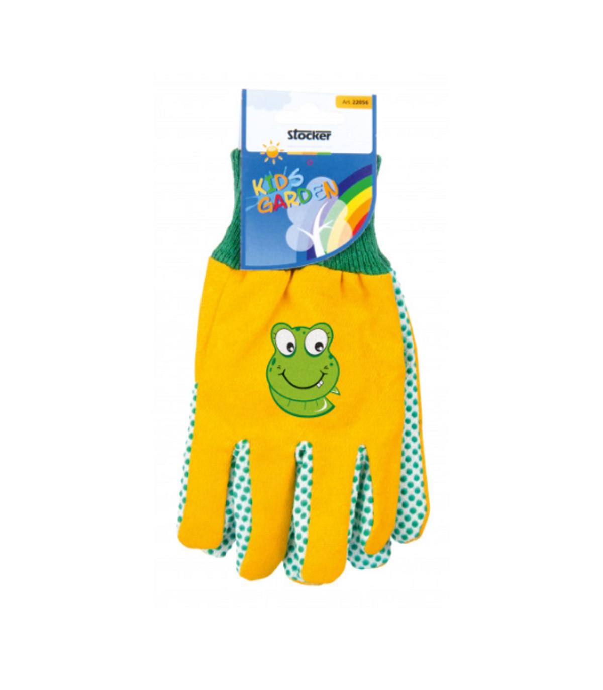 Detské pracovné rukavice žlté - Stocker - 1 pár
