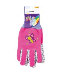Detské pracovné rukavice Stocker - ružové - 1 pár
