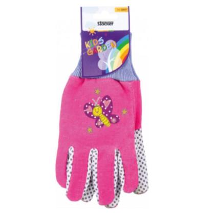 Detské pracovné rukavice ružové - Stocker - 1 pár
