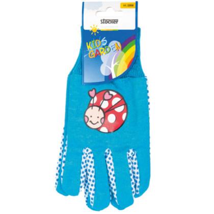 Detské pracovné rukavice modré - Stocker - 1 pár