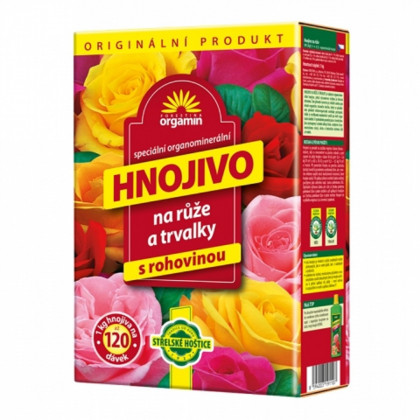 Orgamin - hnojivo na ruže a trvalky s rohovinou - Forestina - hnojivá - 1 kg