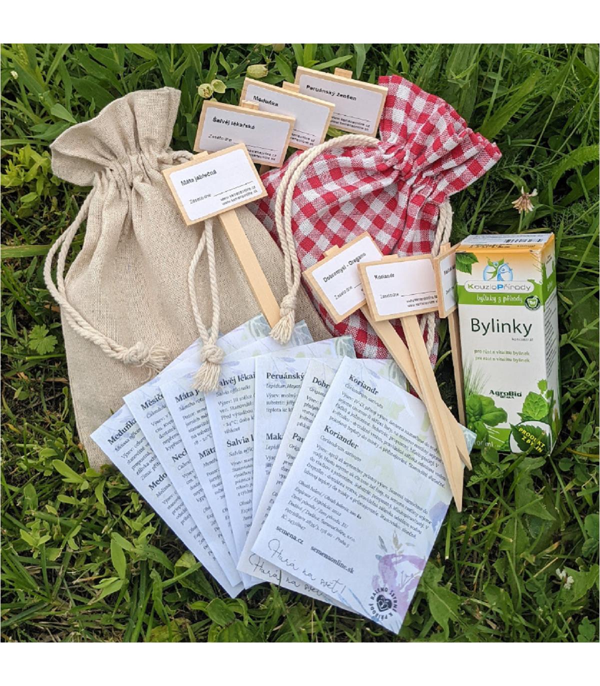 Darčekový balíček semien byliniek - darčekové balenie zadarmo