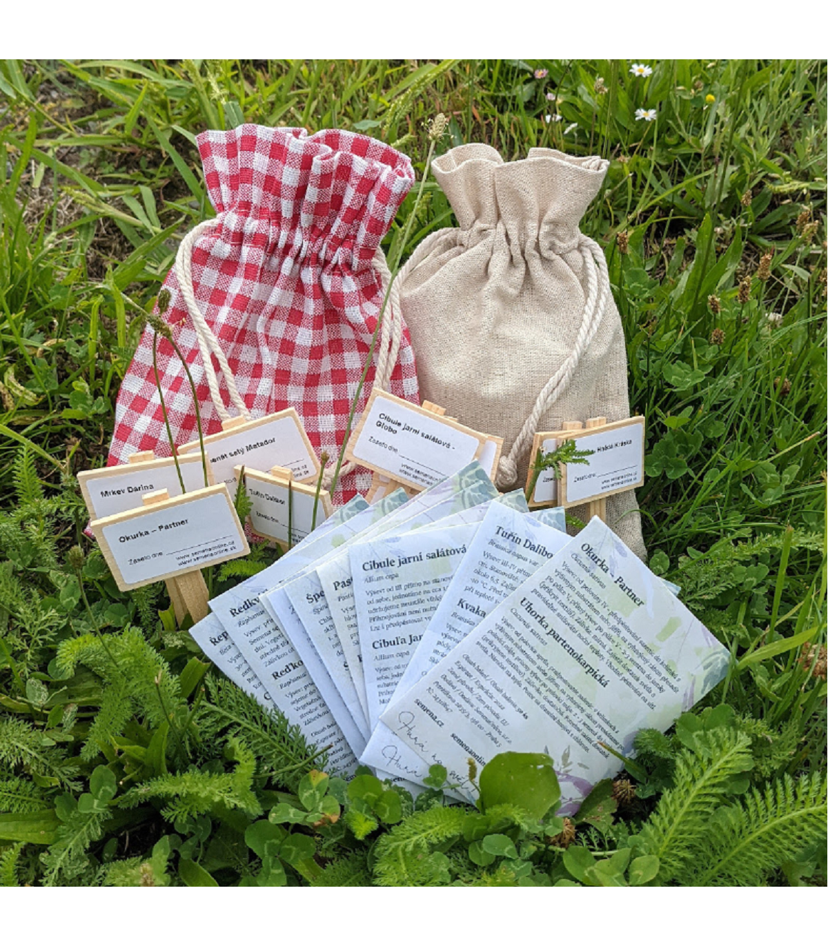 Darčekový balíček semien jarnej zeleniny - darčekové balenie zadarmo