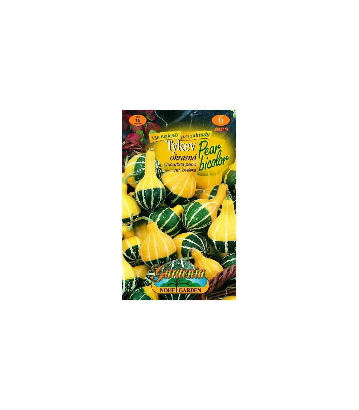 Tekvica okrasná - Cucurbita pepo - Dvojfarebná hruška - semená okrasnej tekvice - 15 ks